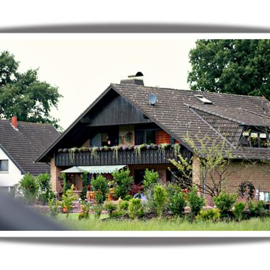 Photo of a typical German house.