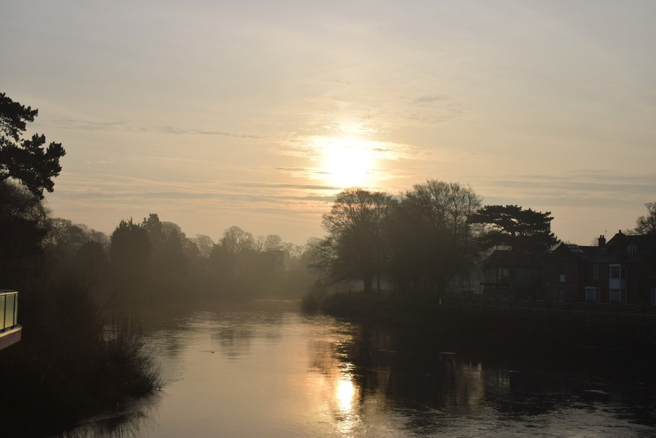 a great view of the river wye  just after sun up