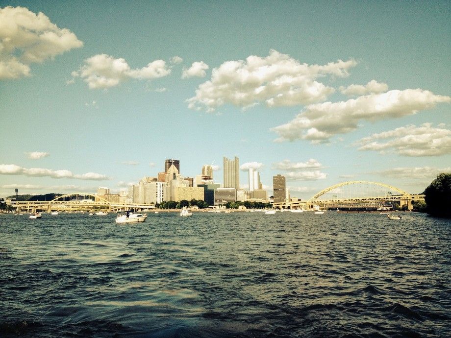 Pittsburgh, PA from where the three rivers meet