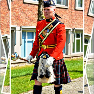 Scottish Band Master with his Mace.