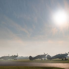 taken just after sunrise at Battle of Britain airshow Duxford uk 2017