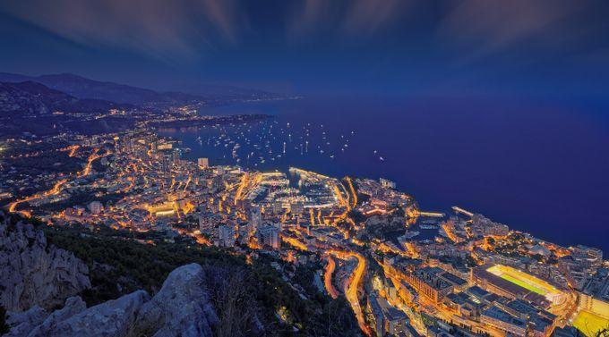 Monaco - Blue hour by Alexlud - Stunning POV Photo Contest