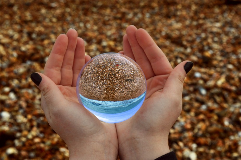 A piece of crystal ball photography, photo taken using a Nikon D3200 with an 18-55mm lens and liv...
