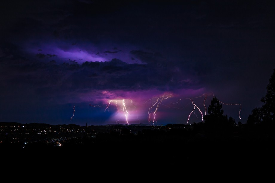 This was a major lightning Storm we had over the bay area in California.  I stood outside for ove...
