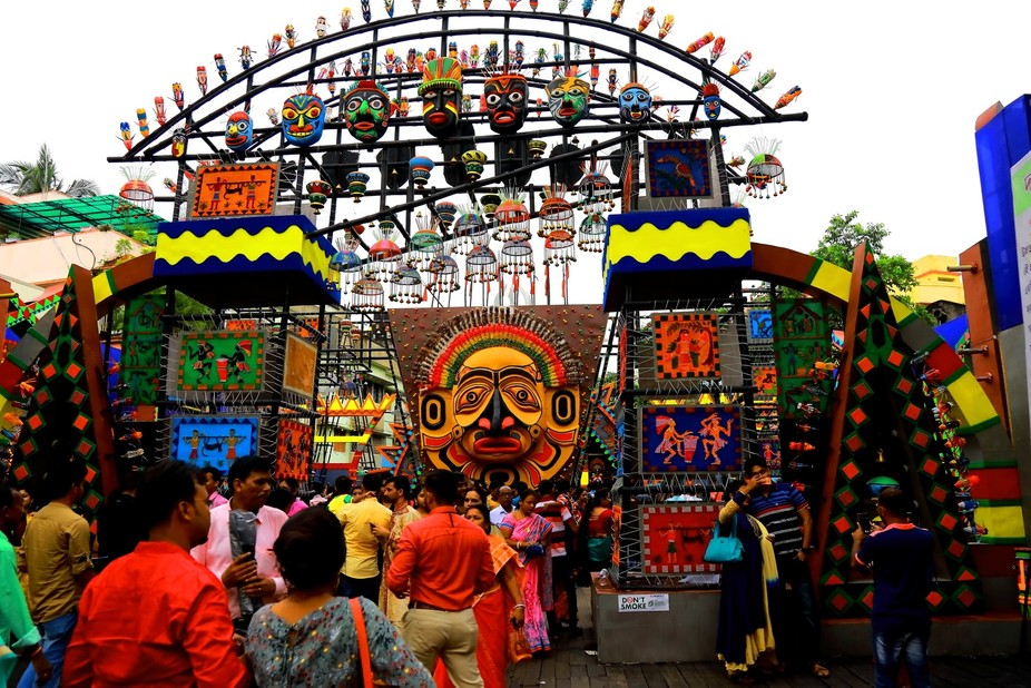 This is a festival gathering in this month at Kolkata, West Bengal, India,