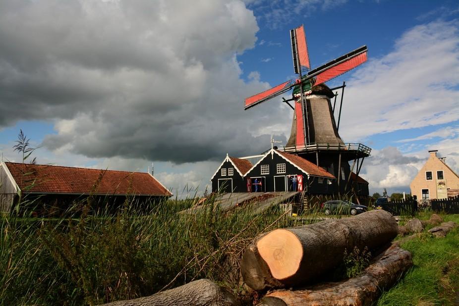Windmill De Rat, sawmill