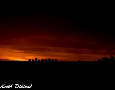 Sundown across the valley
