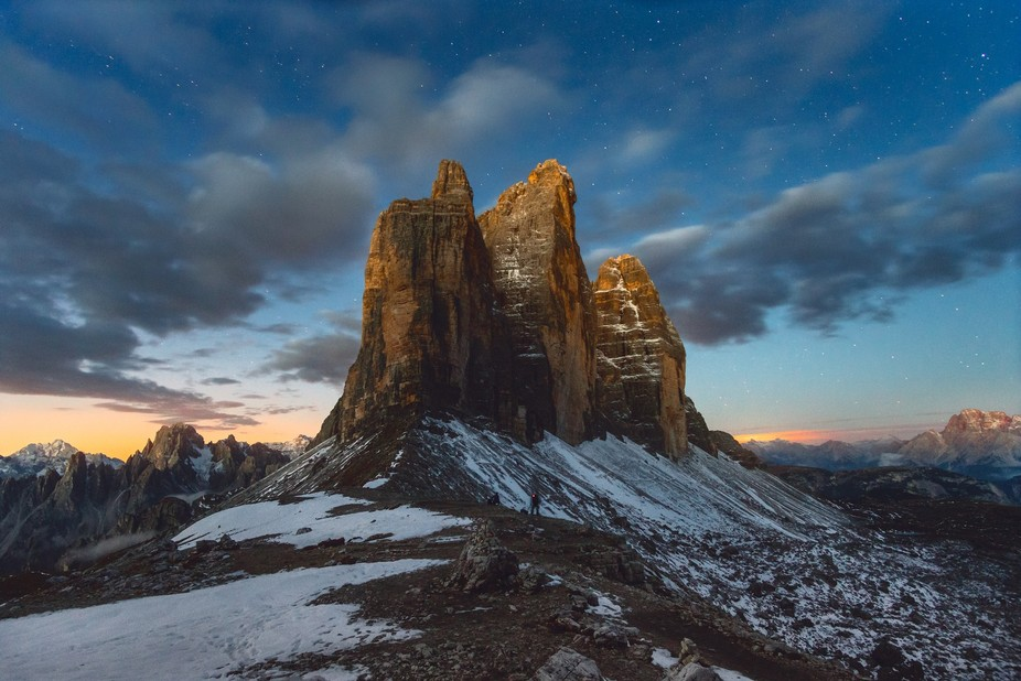It was an epic sunrise at the iconic Tre Cime (or Drei Zinnen how it is called also) in the Itali...