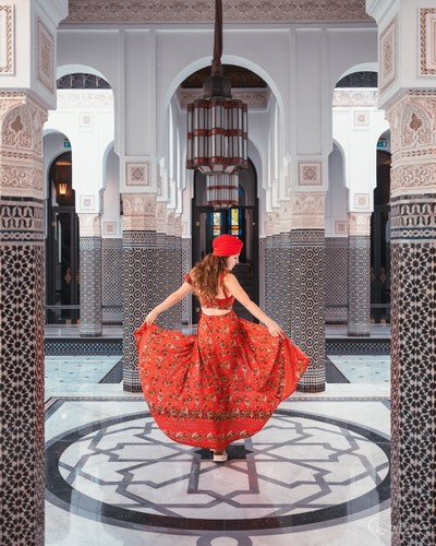 La Mamounia in red