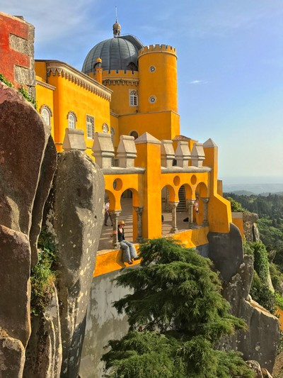 Princess in the Tower, Pena Palace Sintra, Portugal.