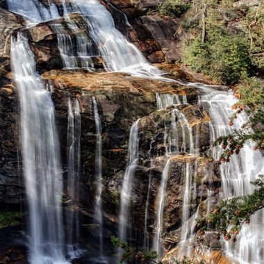 This is a small portion of Whitewater Falls near the North Carolina/South Carolina border.