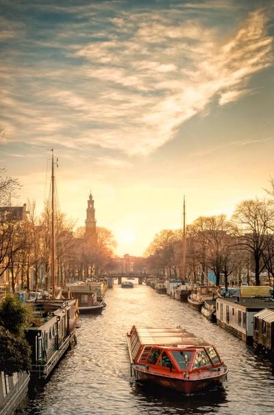 Westerkerk Sunset