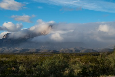 Guadalupe Peak catches a cold [front]