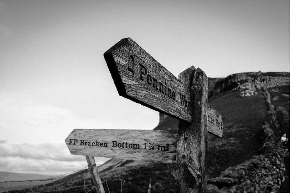 Which way to go? A sign post deep on the pennine way, shot woth my fuji xt2 fixed 18mm lens