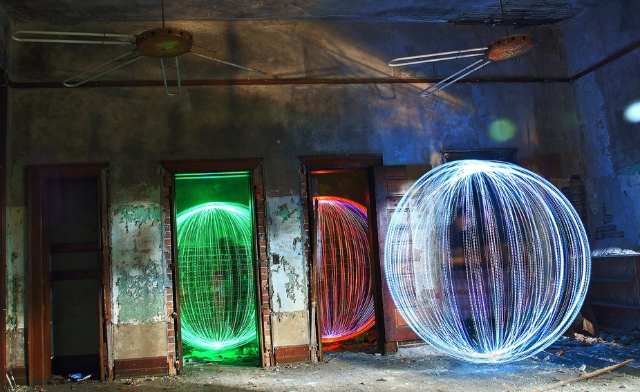 Doing a bit of light painting with some friends.
