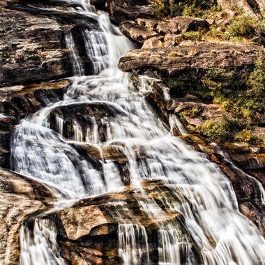 Whitewater Falls detail