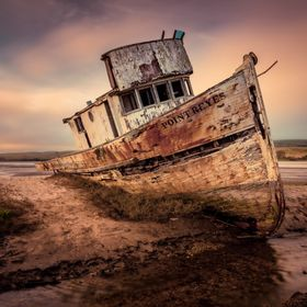 The Point Reyes Shipwreck was an iconic wooden boat stuck on a sandbar in the town of Inverness .It's so peaceful and beautiful. There'...
