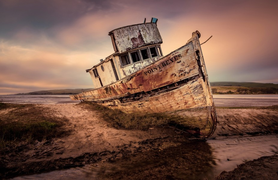 The Point Reyes Shipwreck was an iconic wooden boat stuck on a sandbar in the town of Inverness ....