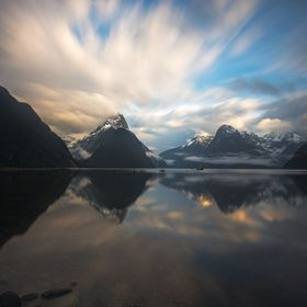 Long exposure over famous Milford Sound...
