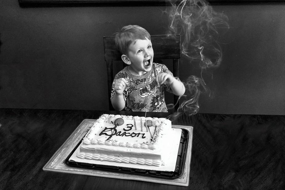 Cake and smoke