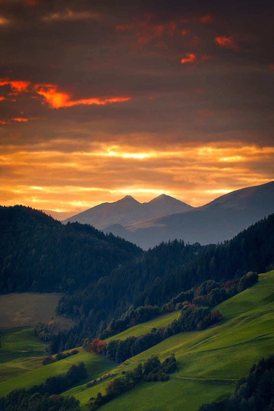 Last light of the Dolomites by Mbeiter - Bright Colors In Nature Photo Contest