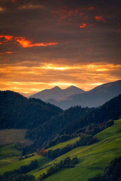Last light of the Dolomites