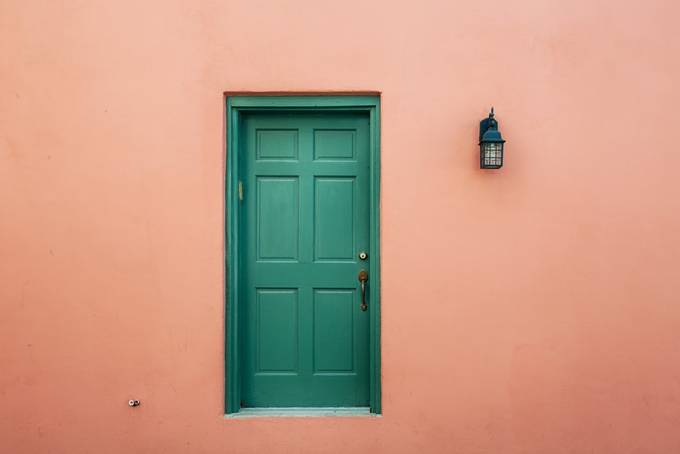 Green door by bryanlwilliams - Picturing Negative Space Photo Contest