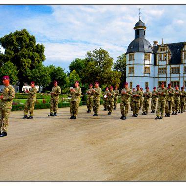 Parachute regimental band rehearsing.