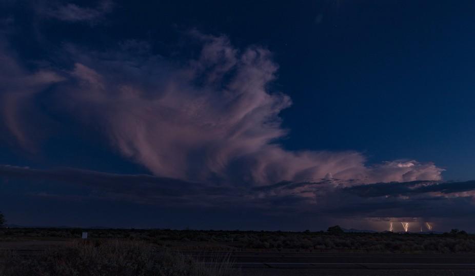 towering thunderhead over the Arizona desert