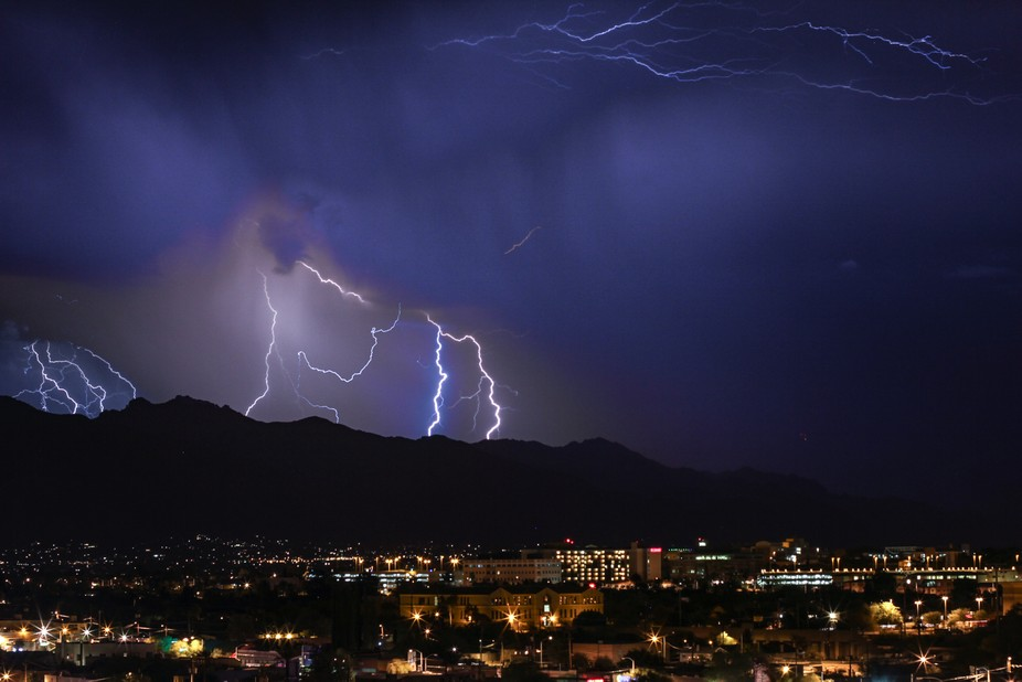 Dramatic storm over the mountains