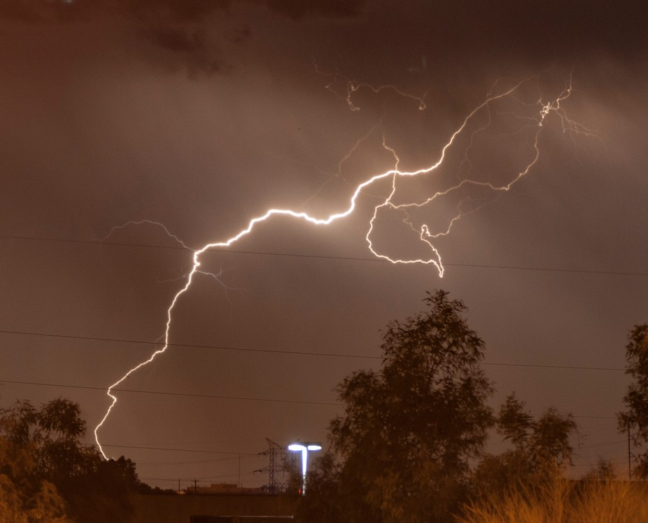 A light vs lightning, which one is brighter?