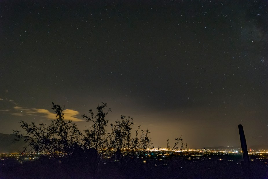 Night time over the City of Tucson