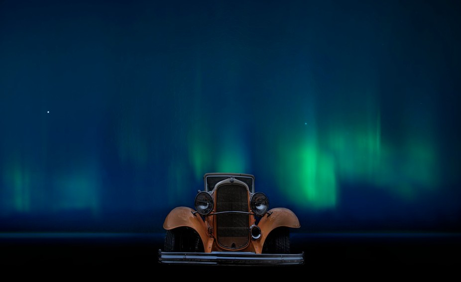 Ford 1930 and Northern Lights.  Copyright Notice: ALL IMAGES on this web site are protected by th...