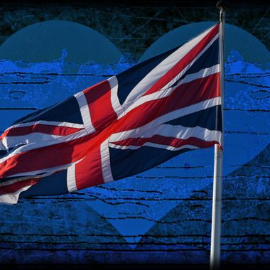 The Union Jack and Heart.