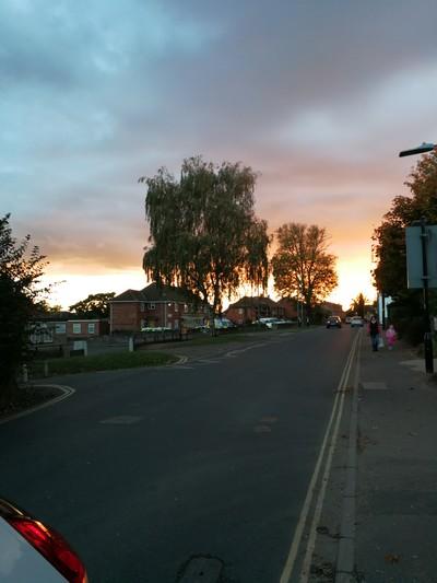 Sunset Fakenham UK