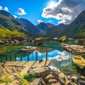 Bondhus lake in Sundal, Norway