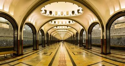 Mayakovskaya metro station panorama