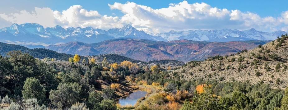 A panorama of the Rocky Mountains near Ouray, Colorado