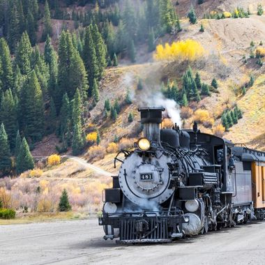The DSRR stceanic train arriving in Silverton, Colorado.