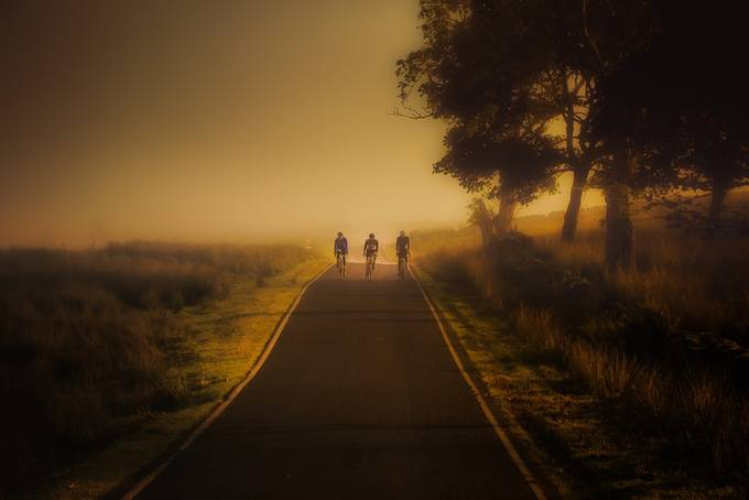 Early morning cycle by peterstevens - Summer Road Trip Photo Contest