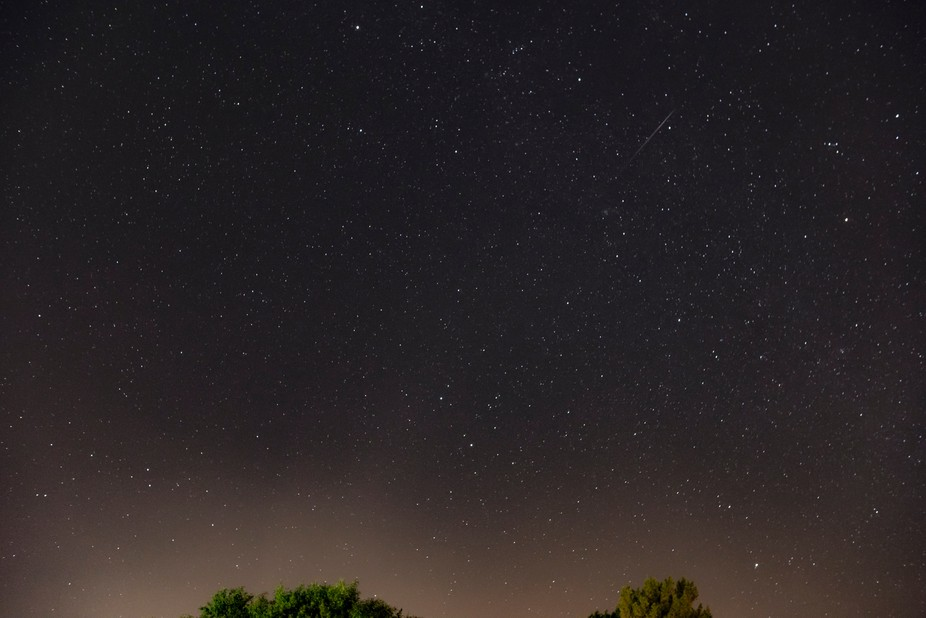 During the Perseids in the summer.