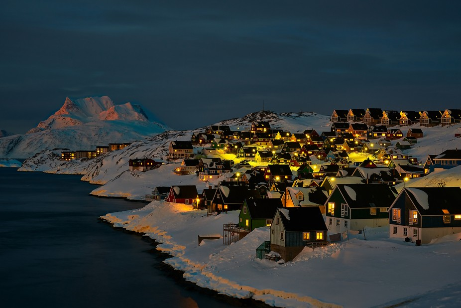 This location is one of the most photographed locations i Nuuk. This photo was taken in the last ...
