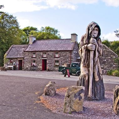 I took this photo when me and my wife were visiting Ireland, in August 2017.  After leaving Glengarriff, on the way to Killarney National park, we stopped at Molly Gallivans Cottage.  We had some Ice-cream and I took some photos.