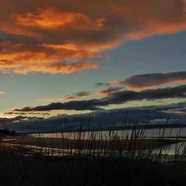 As the sun goes down in Nairn, one October day.
