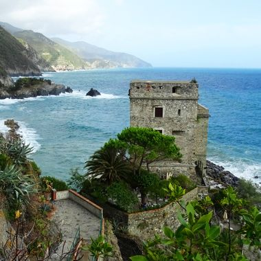 Cinque Terre, Italy Castle on the Rocks 2