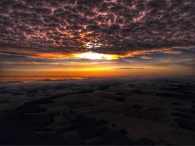 Sunrise view from balloon in Fontainebleau #igersfrance #fontainebleau #sunrise #cloudporn #orangesky #horizon #igaddict #igersfontainebleau #balloonfight #francephoto #morning #morningsun #instalike #instasunrise