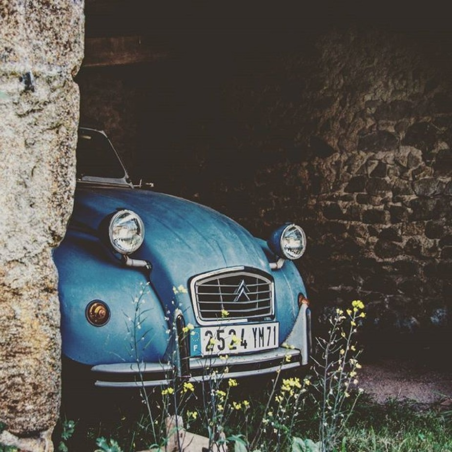 Semi-retired #2cv #citroen #barn #classic #french #auvergne #car by Lucien_Wood - My Favorite Car Photo Contest