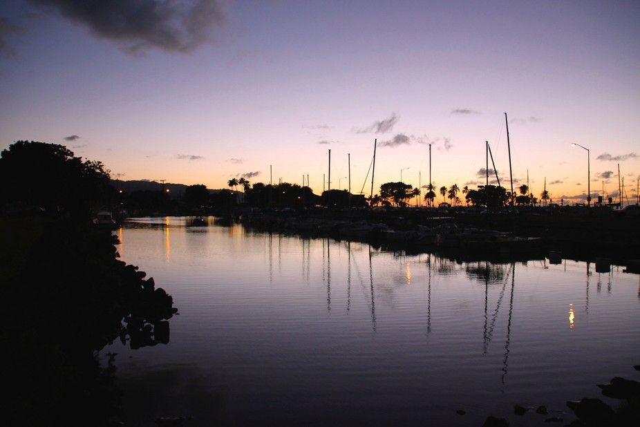 Sundown at Haleiwa Harbor