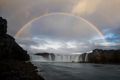 Rainbow at Goðafoss