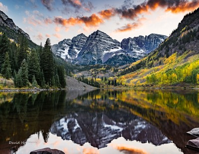 Sunset at the Maroon Bells, Aspen, Colorado